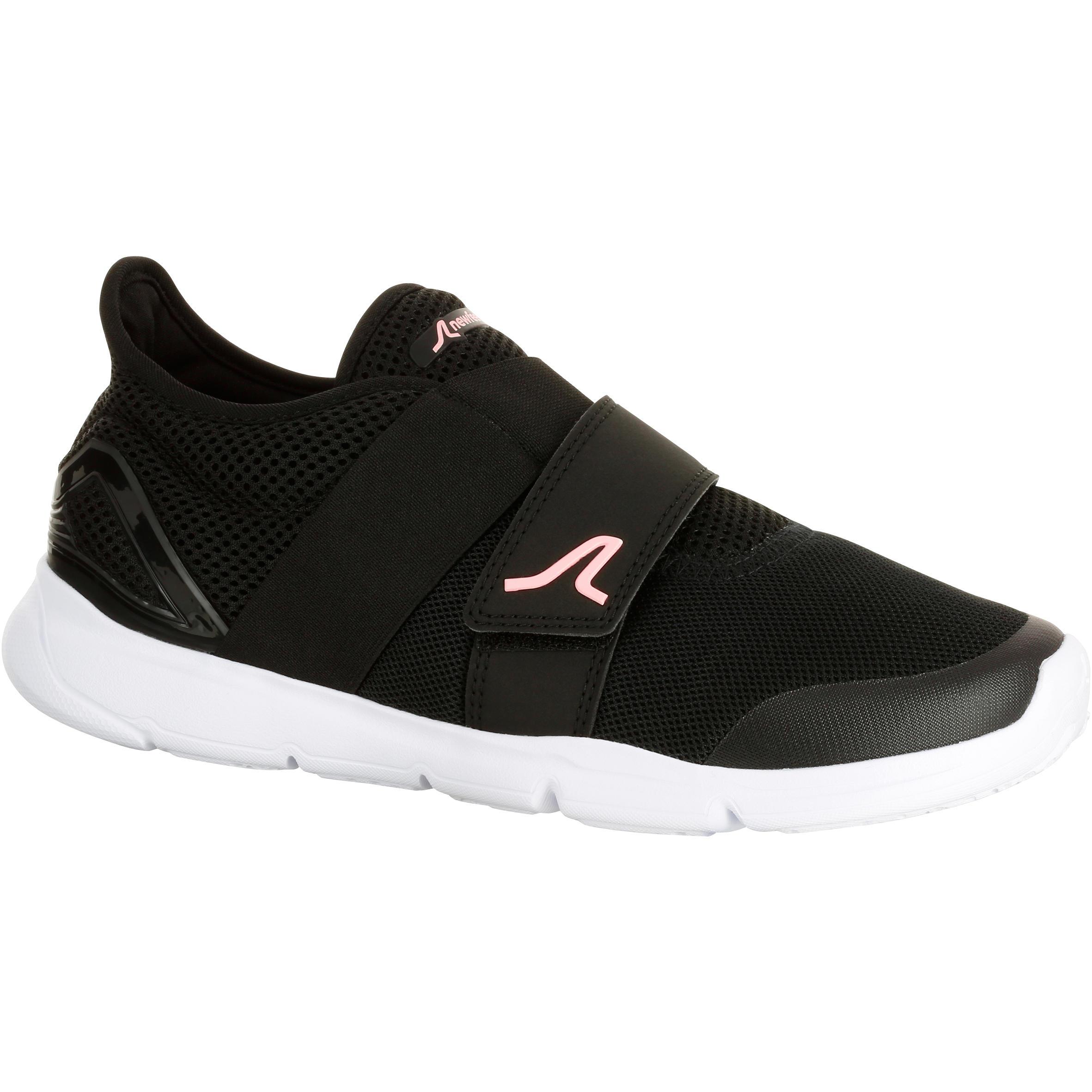 Chaussures été respirantes marche sportive femme Soft 180 noir / rose