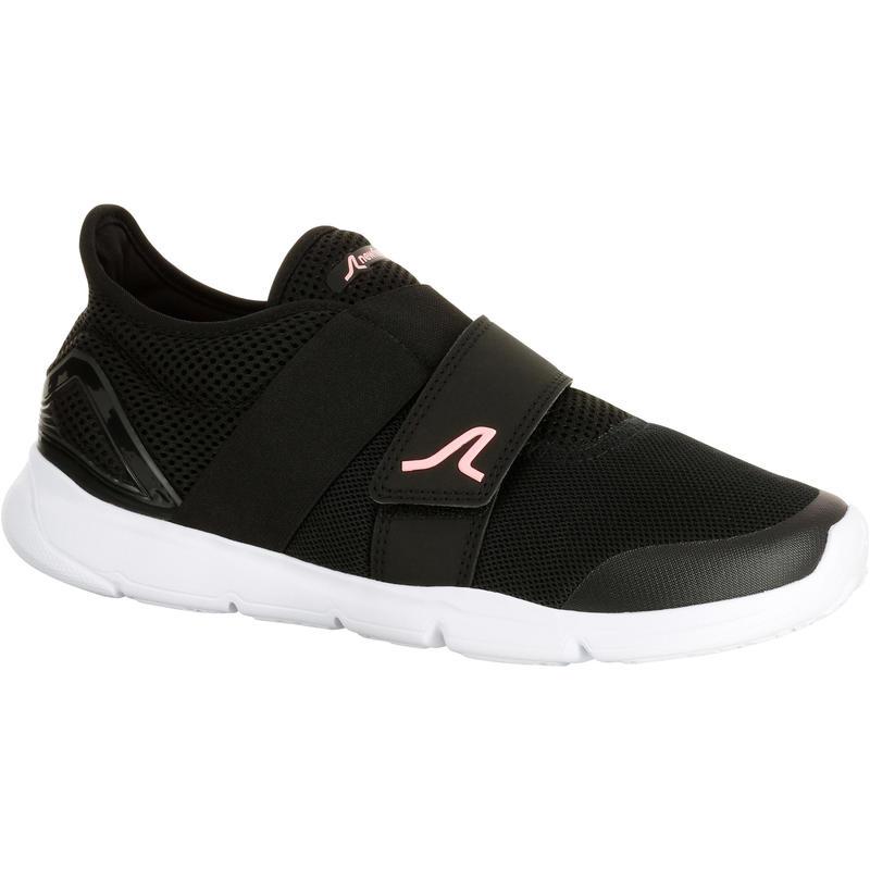 c661a6ac27f Chaussures été respirantes marche sportive femme Soft 180 noir   rose