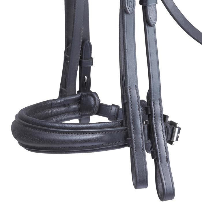 Set bride + rênes équitation PADDOCK noir taille cheval - 1080404