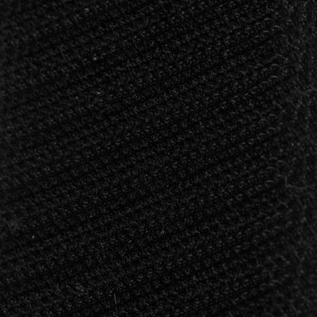 """Silla multiusos sintética equipada de equitación caballo SYNTHIA negro 17""""5"""
