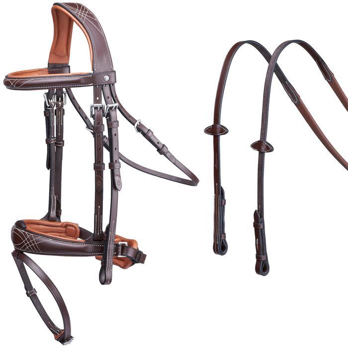Filet + rênes équitation PULL BACK - taille cheval - 1080420