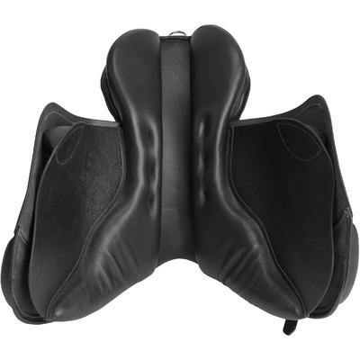 Schooling 17½_QUOTE_ Fully-Fitted Horse Riding All-Purpose Leather Saddle - Black