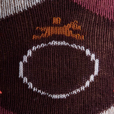 Chaussettes équitation femme LOSANGES prune, gris foncé et gris chiné x2