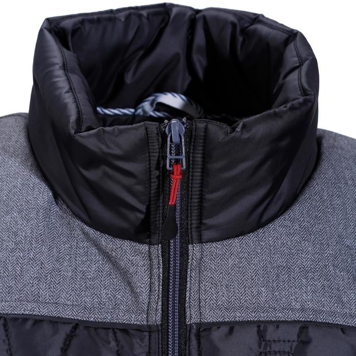 Heren bodywarmer GL700 ruitersport zwart/grijs - 1080470
