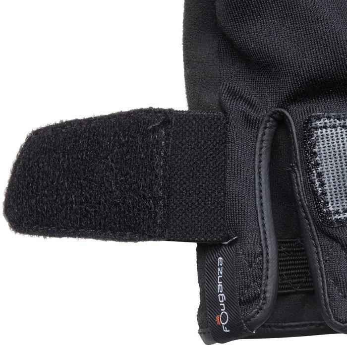 Rijhandschoenen Basic voor kinderen ruitersport zwart