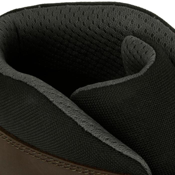 Botines Equitación Fouganza Safyboots Adulto Marrón Impermeable Transpirable