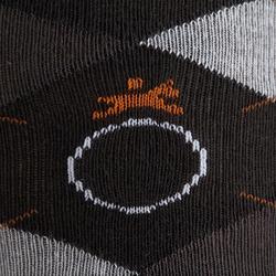 Calcetines equitación adulto ROMBOS gris oscuro, gris jaspeado y camel x2 pares