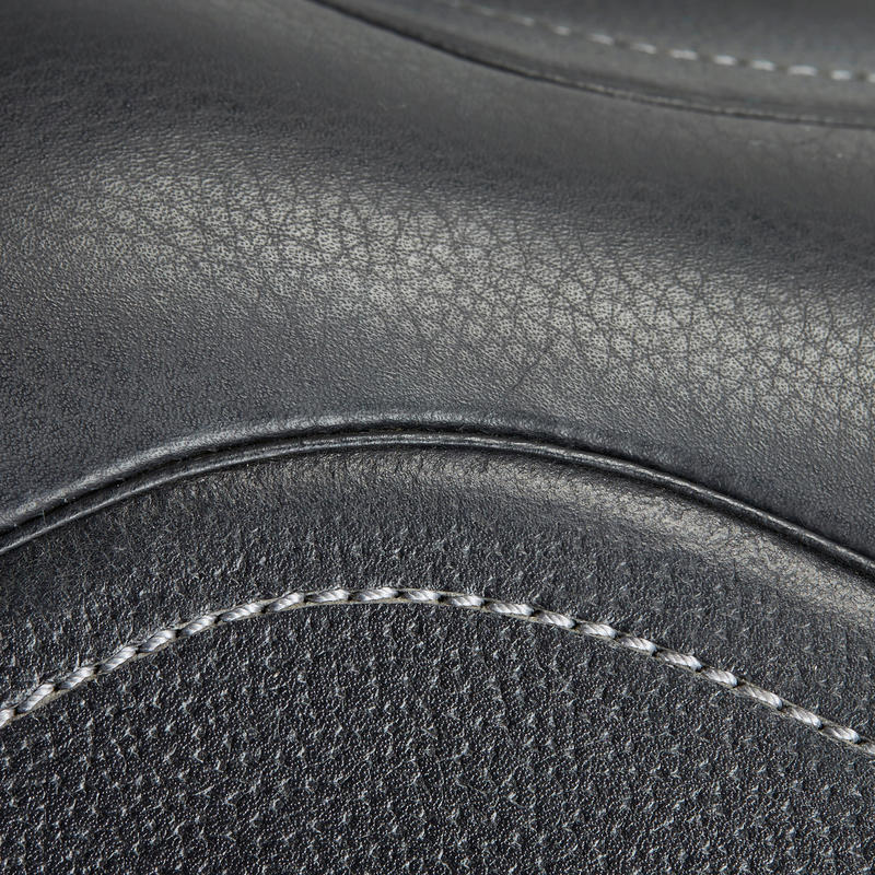 Horse Riding Schooling Leather Saddle 17½_QUOTE_ - Black
