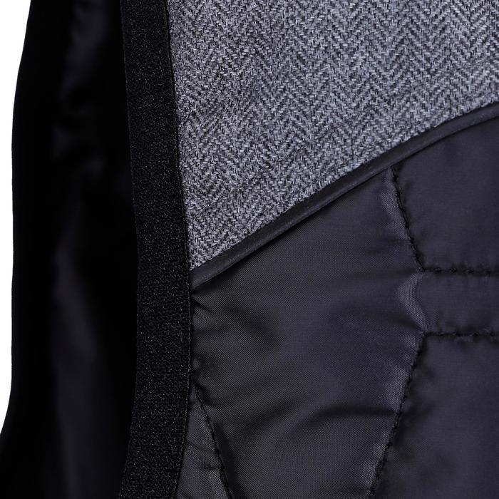 Heren bodywarmer GL700 ruitersport zwart/grijs - 1080573