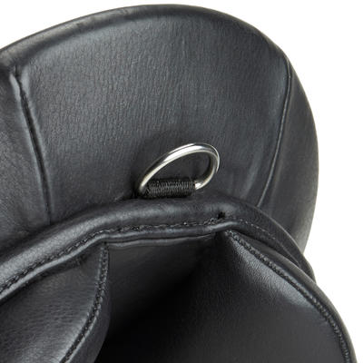 "Schooling 16.5"" Fully-Fitted Horse Riding General Purpose Leather Saddle - Black"