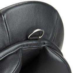 """Selle polyvalente en cuir équipée équitation cheval SCHOOLING noir 17,5"""""""