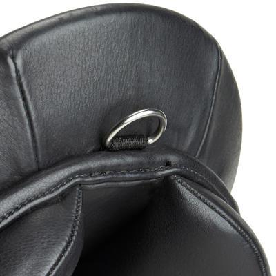 Selle polyvalente en cuir équipée équitation cheval SCHOOLING noir 17_QUOTE_5