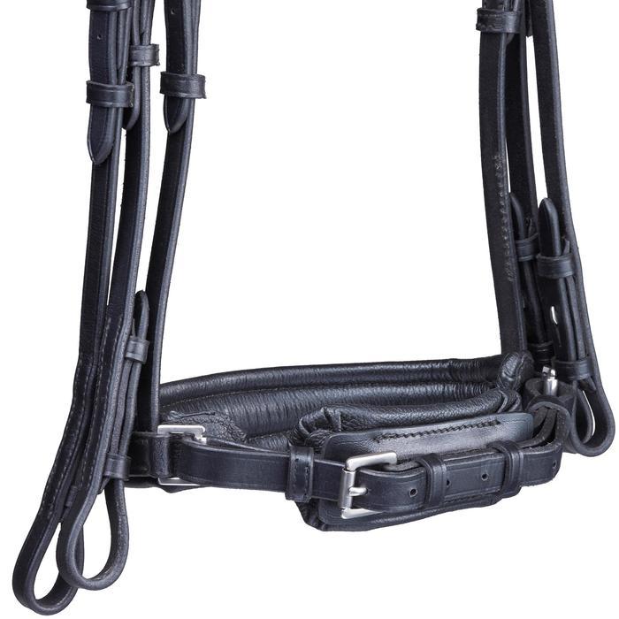 Set de brida + riendas para equitación caballo PADDOCK Negro