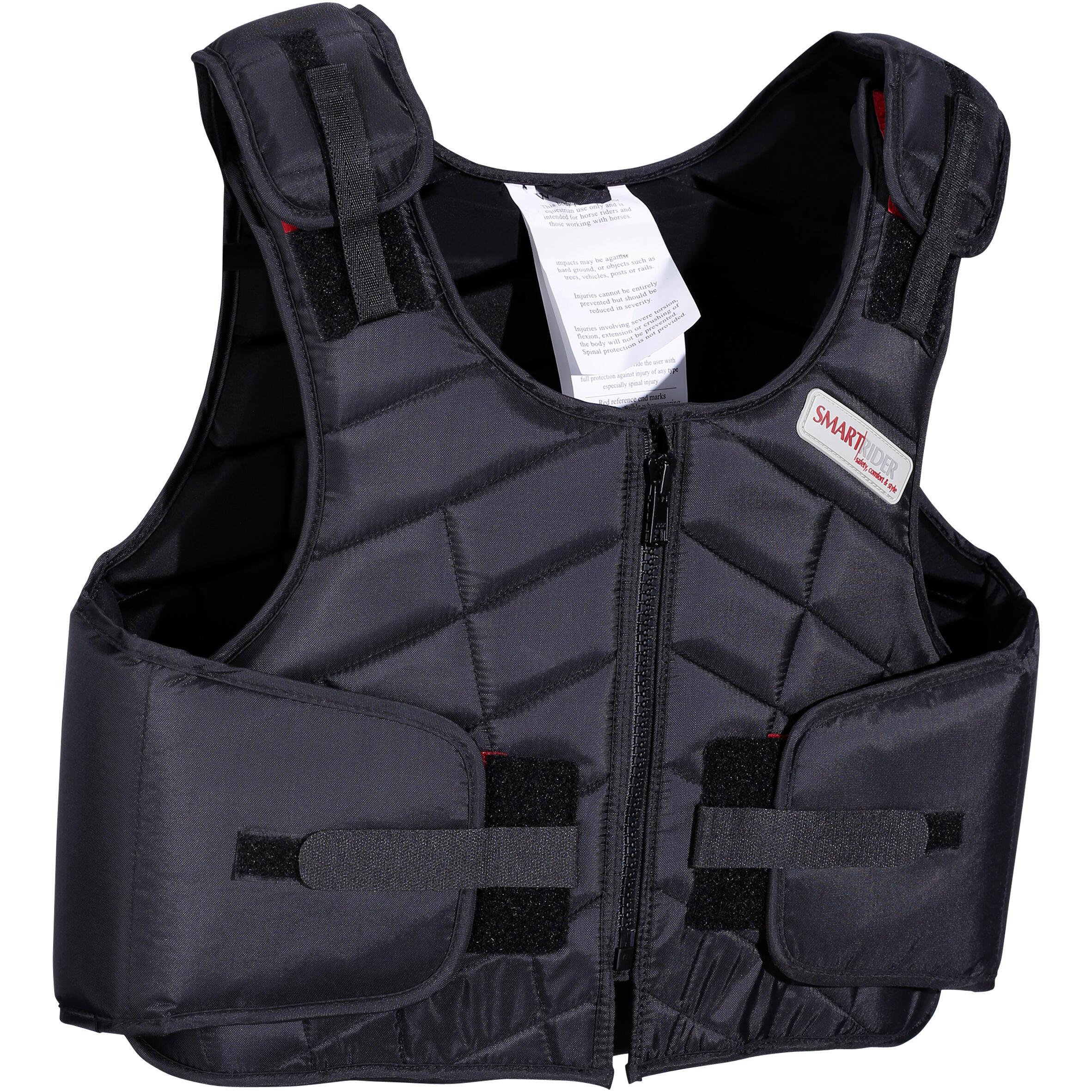 Smart rider Bodyprotector Smartrider 311 voor kinderen, ruitersport, zwart