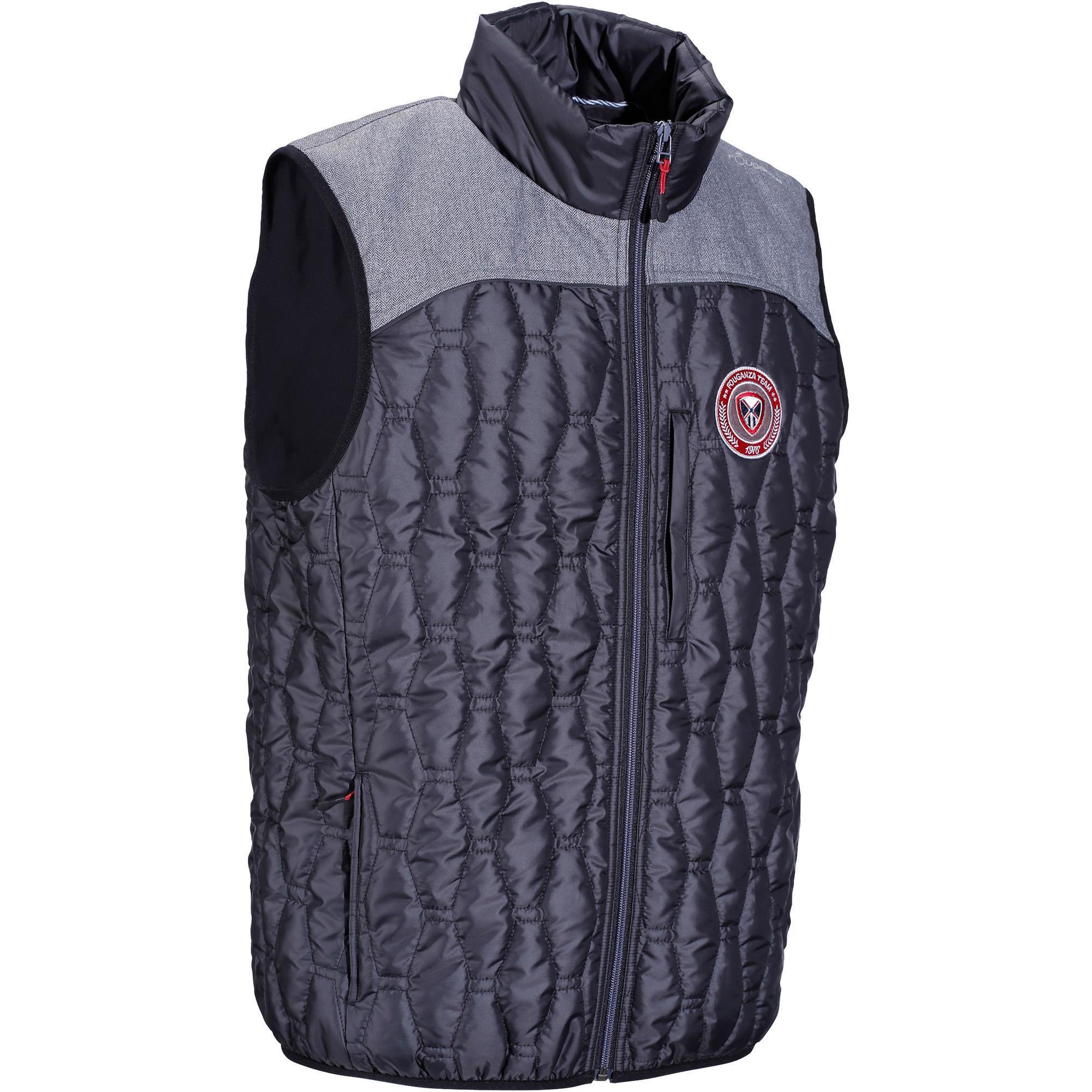 Reitweste GL700 Herren schwarz/grau   Sportbekleidung > Sportwesten > Funktionswesten   Grau   Fouganza