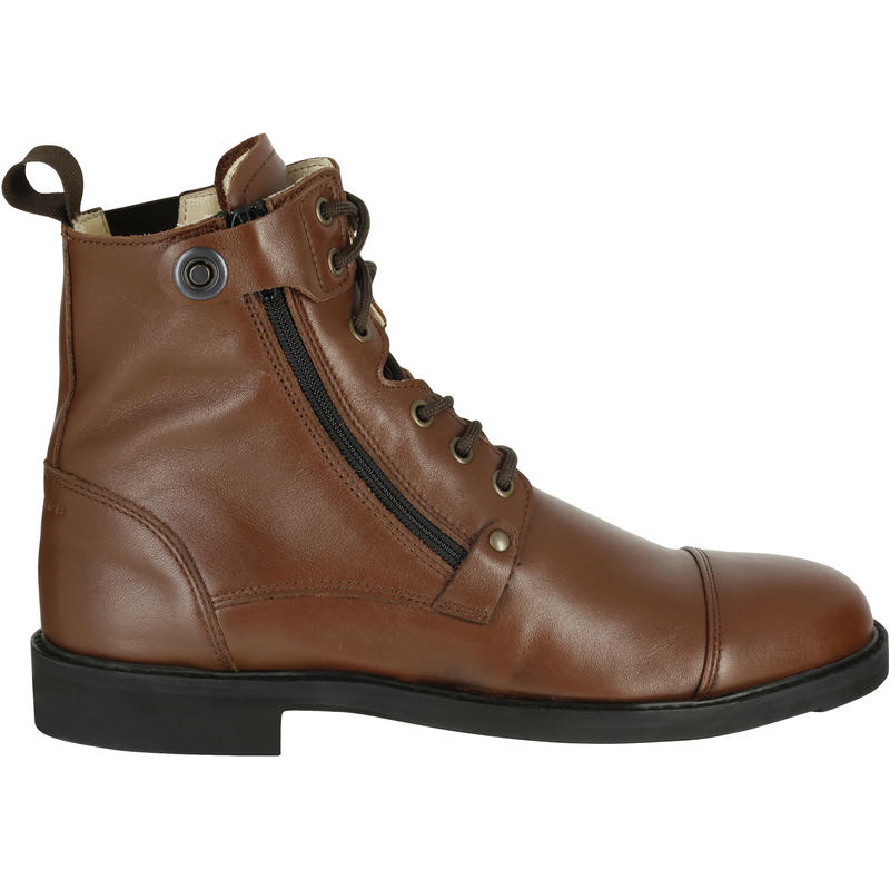 Training 700 Adult Lace-Up Horse Riding Jodhpur Boots - Brown