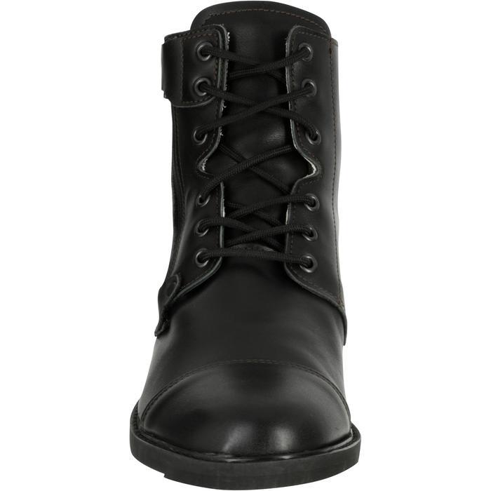 Boots à lacets équitation adulte TRAINING 700 cuir noir