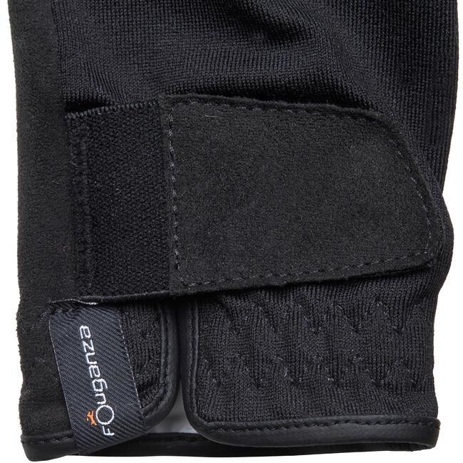 Basic Children's Horse Riding Gloves - Black