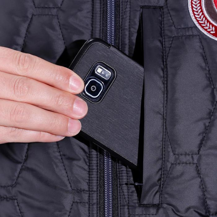 Heren bodywarmer GL700 ruitersport zwart/grijs - 1080707