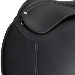 """Selle polyvalente synthétique équipée équitation cheval SYNTHIA noir 18"""""""