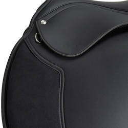 "Synthia Horse Riding Synthetic 17.5"" All-Purpose Saddle For Horse - Black"