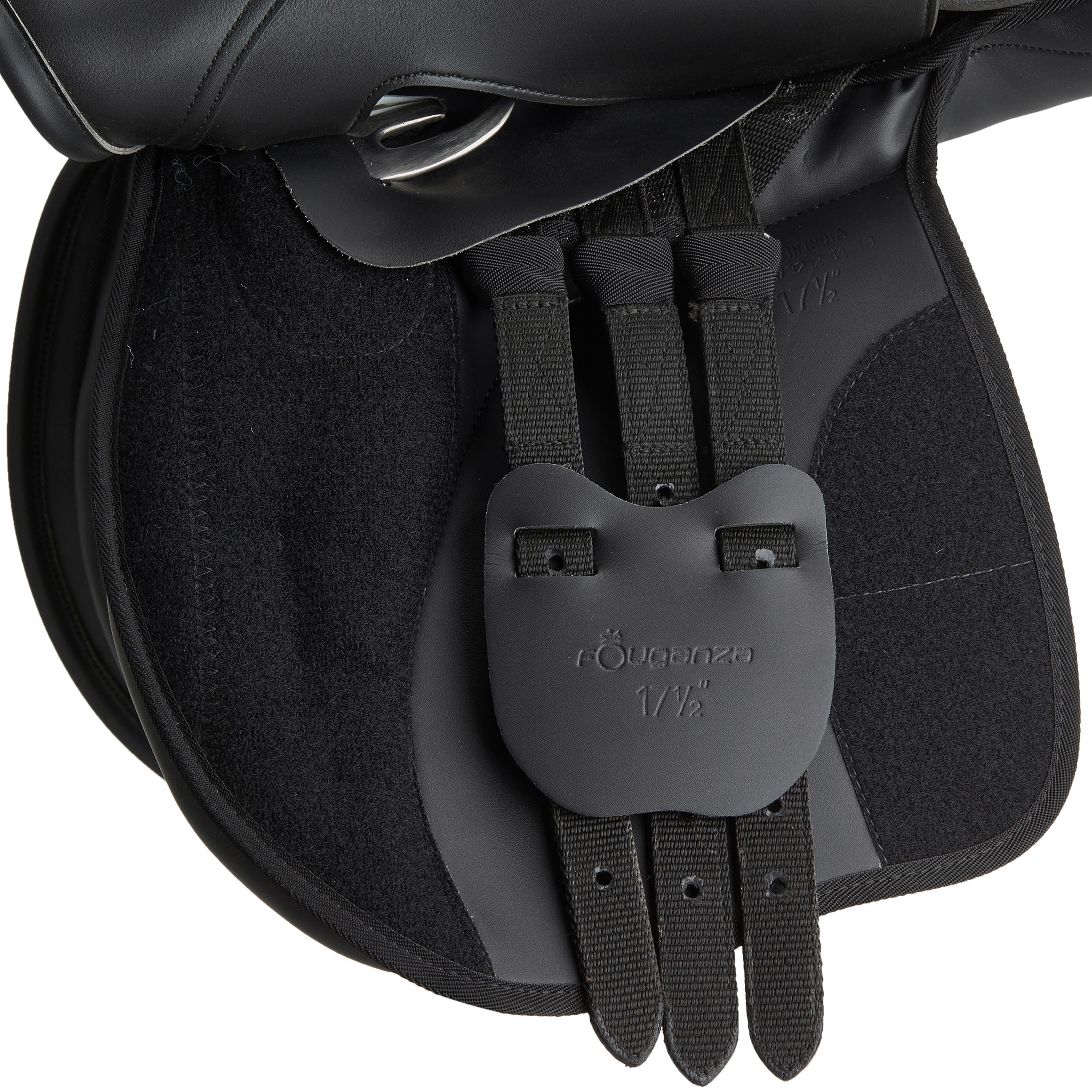 Horse Riding Synthia Synthetic Saddle 17.5_QUOTE_-Black