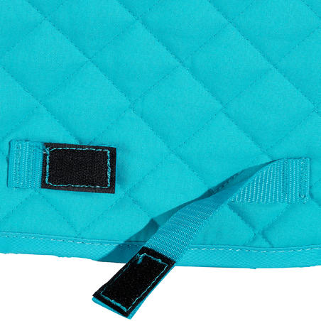 Schooling Horseback Riding Saddle Pad for Horse and Pony - Turquoise