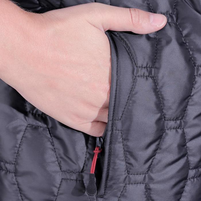 Heren bodywarmer GL700 ruitersport zwart/grijs - 1080774