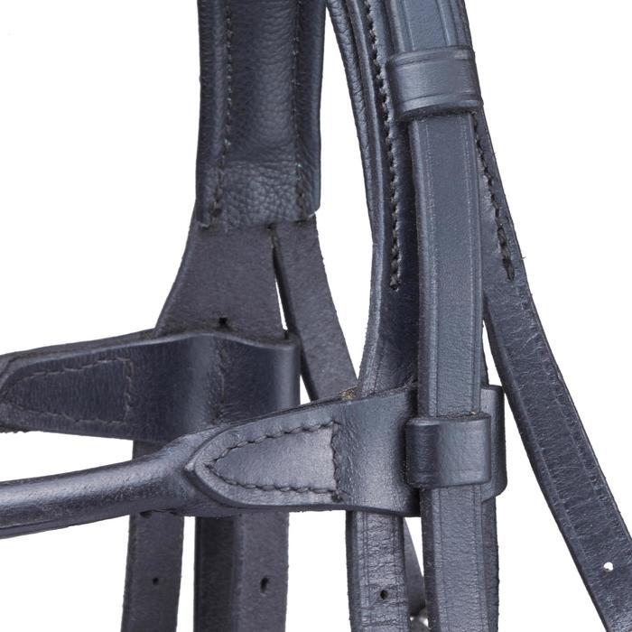 Set bride + rênes équitation PADDOCK noir taille cheval - 1080776