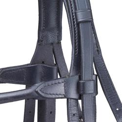 Set bride + rênes équitation cheval PADDOCK noir