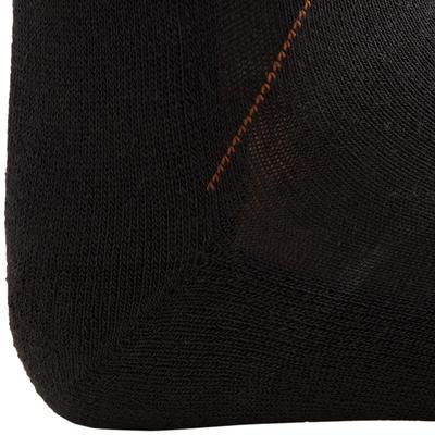 גרבי רכיבה למבוגרים 2 זוגות - אפור כהה/אפור מנוקד/חום-צהבהב