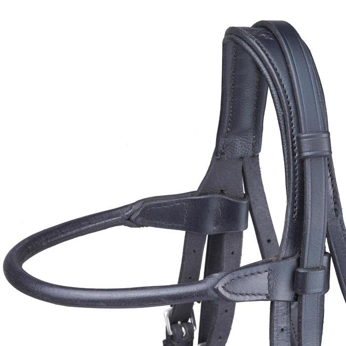 Set bride + rênes équitation PADDOCK noir taille cheval - 1080788