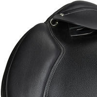 """Schooling 16.5"""" Fully-Fitted Horse Riding General Purpose Leather Saddle - Black"""