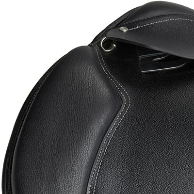 "Schooling 17½"" Fully-Fitted Horse Riding All-Purpose Leather Saddle - Black"