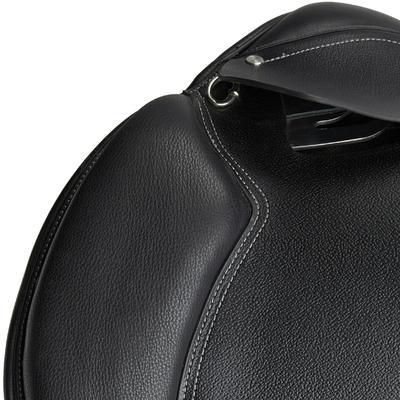 Selle polyvalente en cuir équipée équitation cheval et poney SCHOOLING noir 16_QUOTE_5