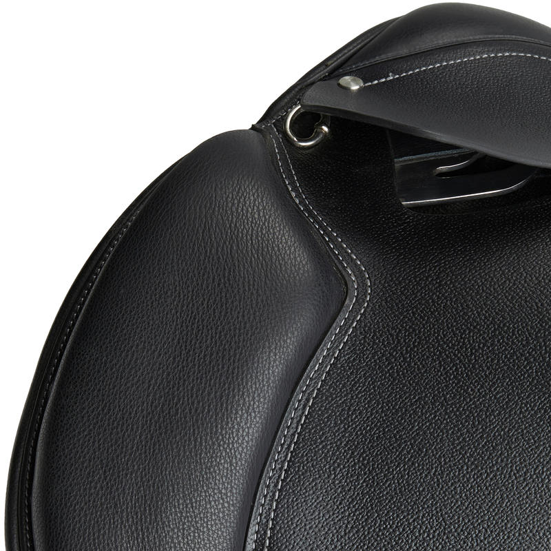 """Schooling 17½"""" Fully-Fitted Horse Riding All-Purpose Leather Saddle - Black"""