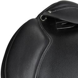 "Silla polivalente de cuero equipada equitación caballo SCHOOLING negro 17""5"