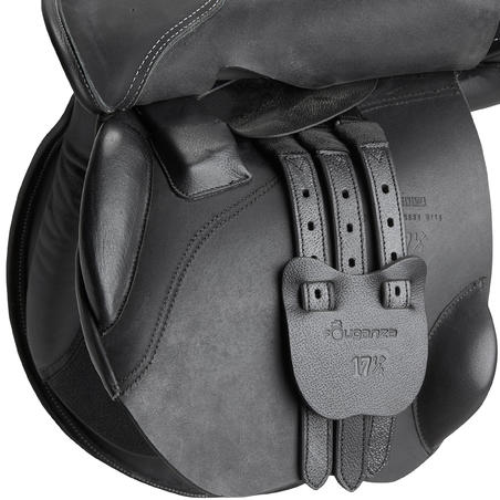 "Schooling 17½"" Fully-Fitted Horseback Riding All-Purpose Leather Saddle - Black"
