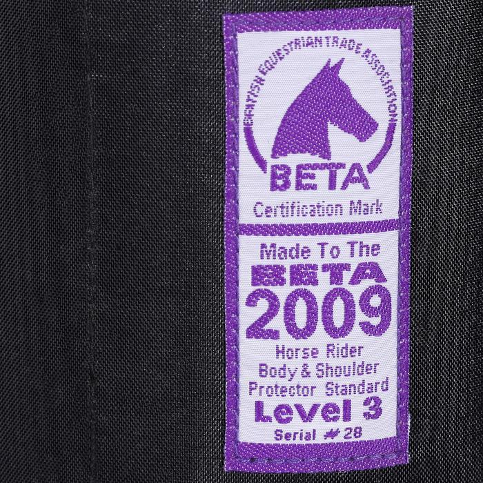 Gilet de protection équitation enfant SMARTRIDER 311 noir