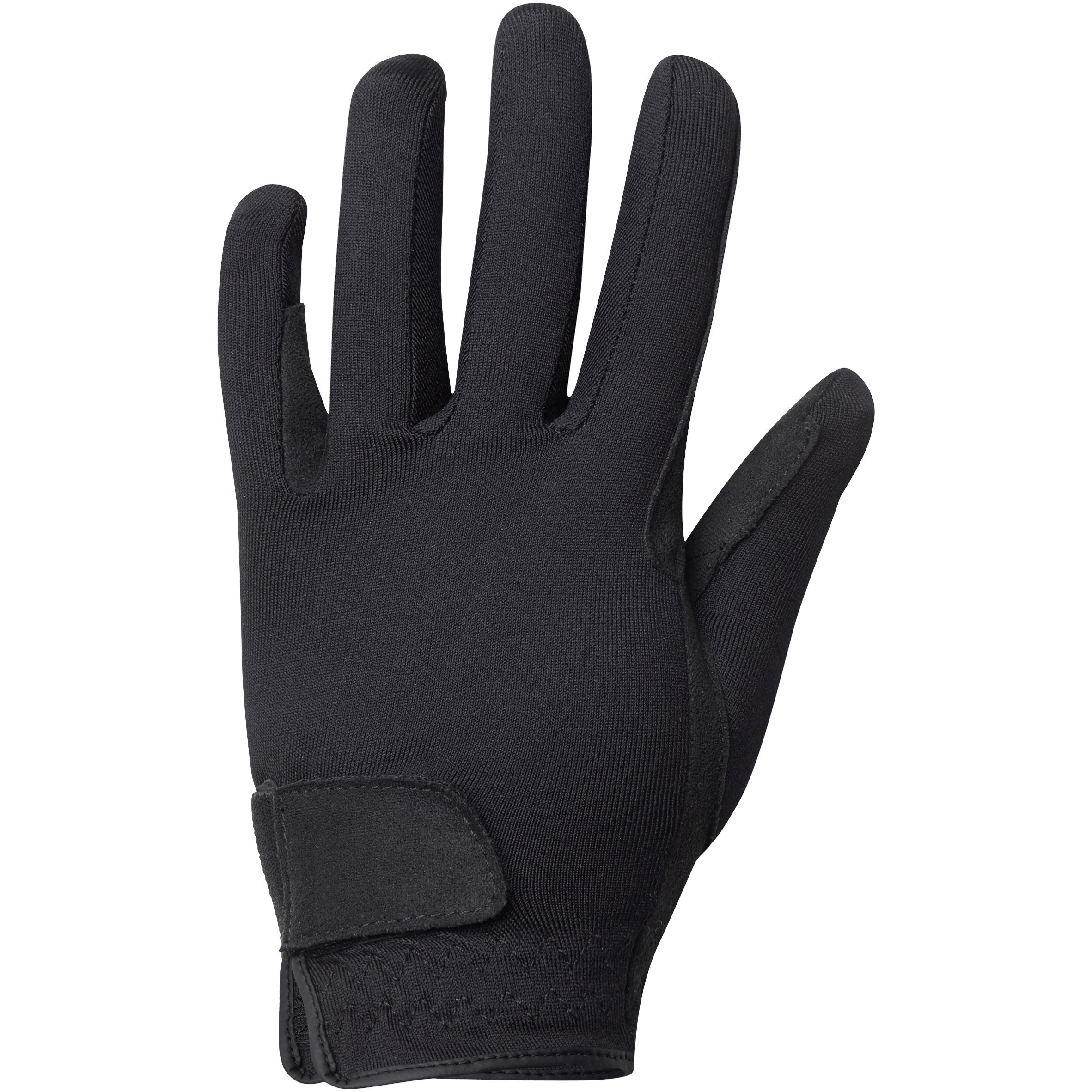 Junior Horse Riding Basic Gloves - Black