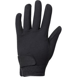 Basic Kids' Horseback Riding Gloves - Black