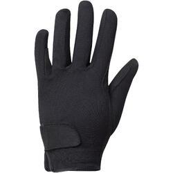 Basic 馬術運動孩童手套 - 黑色