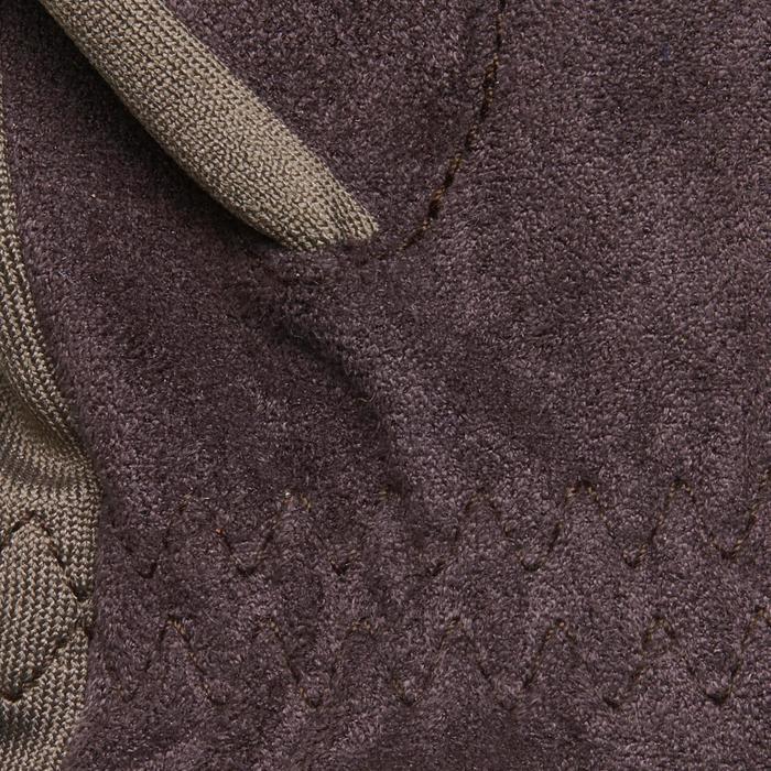 Rijhandschoenen Basic voor kinderen ruitersport bruin