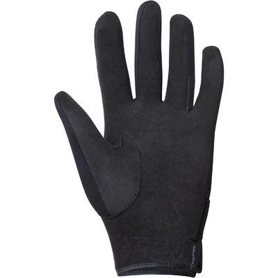 Дитячі рукавиці Basic для кінного спорту - Чорні
