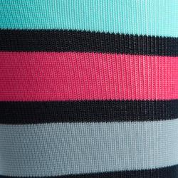 Paardrijkousen Basic kinderen zwart met roze strepen 1 paar - 1080903