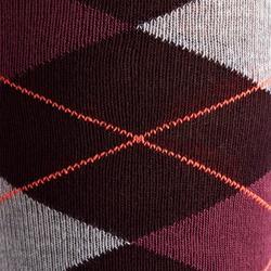 Rijkousen dames Losanges paars, donkergrijs en gemêleerd grijs 2 paar