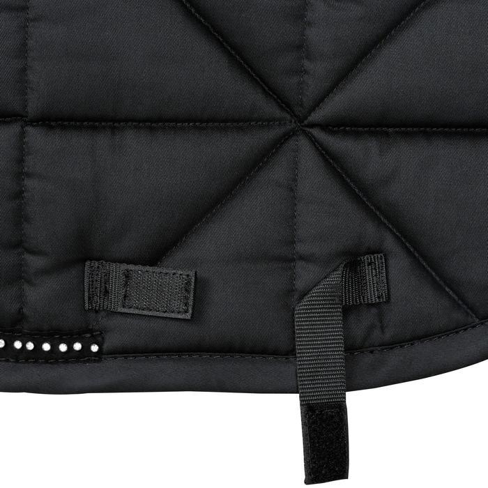Zadeldek dressuur Strass voor paard zwart - 1080935