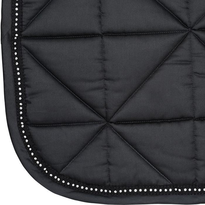 Tapis de selle équitation cheval STRASS dressage noir - 1080939