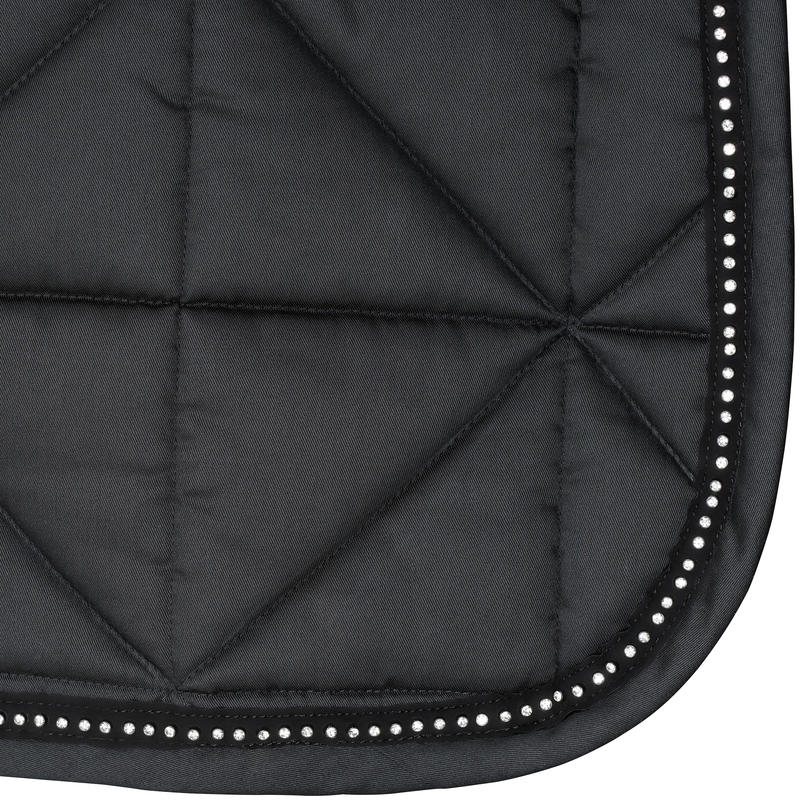 Strass Horse Riding Saddle Cloth For Horse/Pony - Black