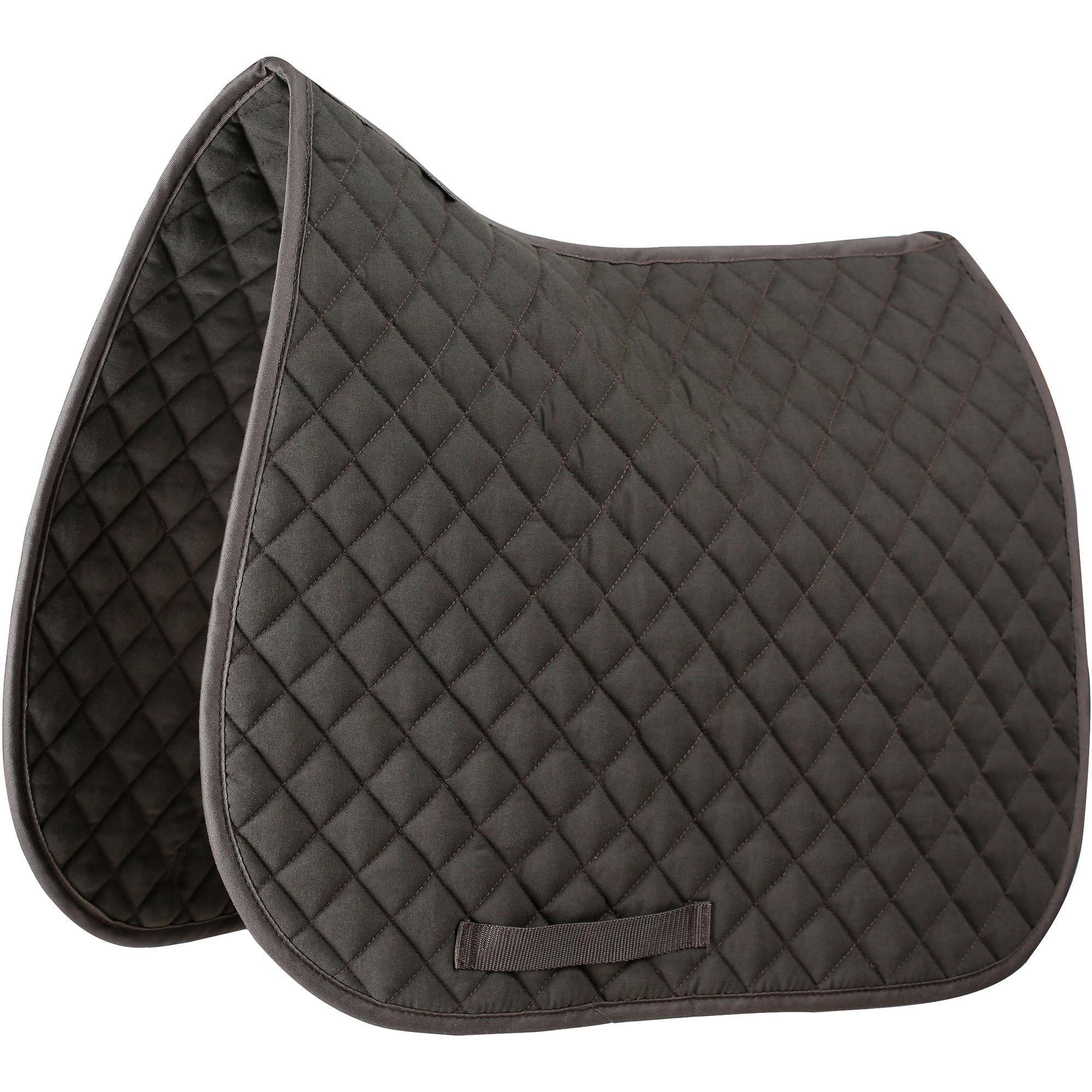 tapis de selle quitation poney et cheval schooling marron. Black Bedroom Furniture Sets. Home Design Ideas